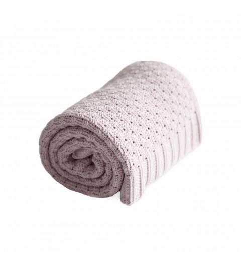 Bavlnená BABY deka - ružová