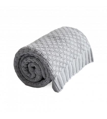 Bavlnená BABY deka - šedá