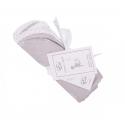 Effiki Obojstranná deka biele zajačiky so šedými bodkami
