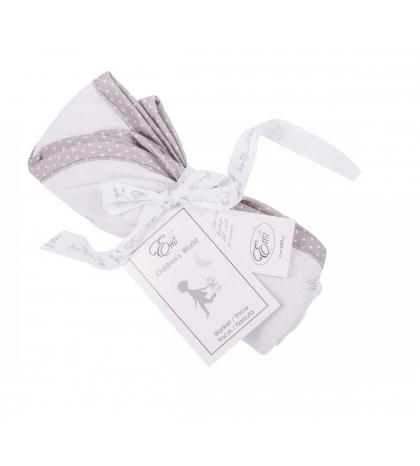 Obojstranná deka šedé zajačiky s bielymi bodkami