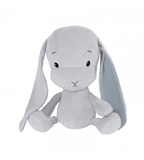 Effiki Effík Bunny šedý s modrými uškami, veľkosť L