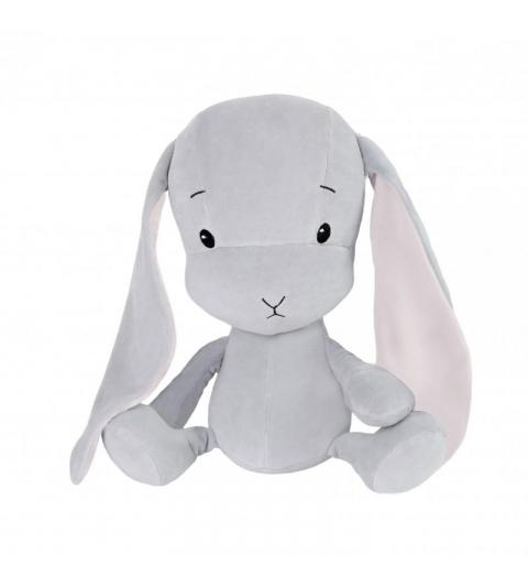 Effiki Effík Bunny šedý s ružovýmiuškami, veľkosť L