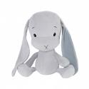 Effiki Effík Bunny šedý s modrými uškami, veľkosť M