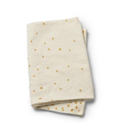 Vlnená deka – Gold Shimmer  Elodie Details