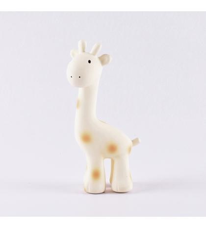 Tikiri ZOO - hrkálka a hryzátko z prírodnej gumy - žirafka