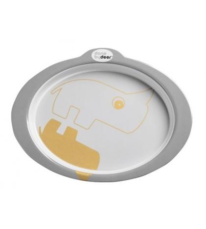 Protišmykový tanier s úchytmi Contour - sivý  Done by Deer