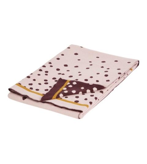 pletená deka Happy dots- ružová Done by Deer