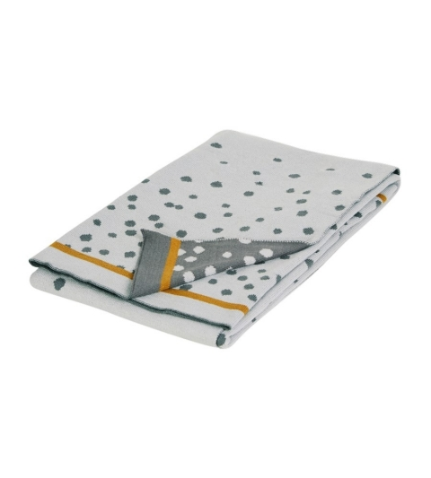 pletená deka Happy dots- sivá Done by Deer