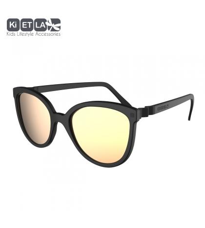 KiETLA CraZyg-Zag slnečné okuliare 6-9 rokov-mačacie-čierne-zrkadlovky