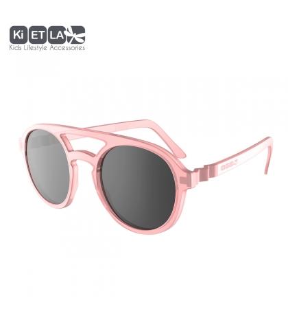 KiETLA CraZyg-Zag slnečné okuliare 6-9 rokov-pilotky-ružové
