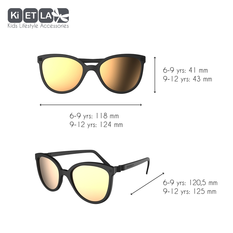 e4483ff4d ... KiETLA CraZyg-Zag slnečné okuliare 9-12 rokov-mačacie-čierne-zrkadlovky  ...