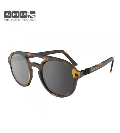 KiETLA CraZyg-Zag slnečné okuliare 9-12 rokov-pilotky-hnedé