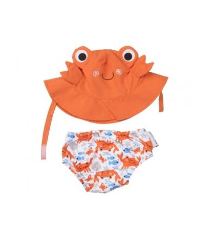 Zoocchini sada klobúčik a plavky Crab