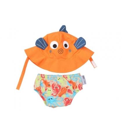 Zoocchini sada klobúčik a plavky Fish