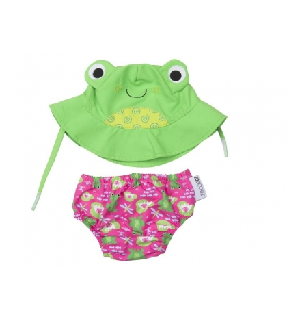 Zoocchini sada klobúčik a plavky Frog