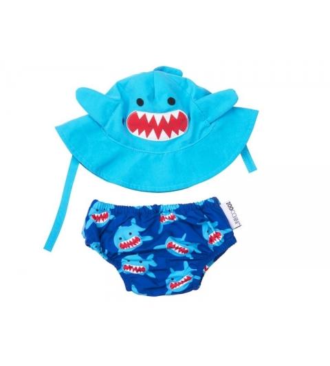 Zoocchini sada klobúčik a plavky Shark