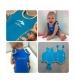 Konfidence Oblek na plávanie Babywarma- modrý biele bodky