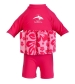 Konfidence Plávací oblek ružový ibištek