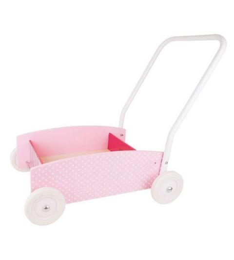 Jabadabado Vozík na tlačenie ružový
