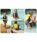Konfidence plávacia vesta na učenie - Hamptons –Modrý pásik