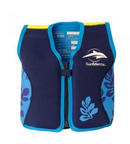 Konfidence plávacia vesta na učenie - modrá palma