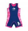 Konfidence Warma Wetsuit Navy – Pink Hibiscus