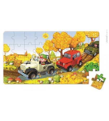 Janod Sada puzzle v krabičke Auto na farme 2 obrázky