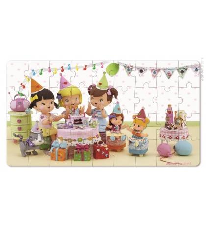 Janod Sada puzzle v krabičke Narodeninová oslava