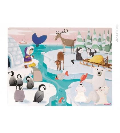 Janod Puzzle dotykové Život na ľade s textúrou
