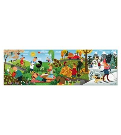 Janod Puzzle panoramatické Ročné obdobia 36 ks