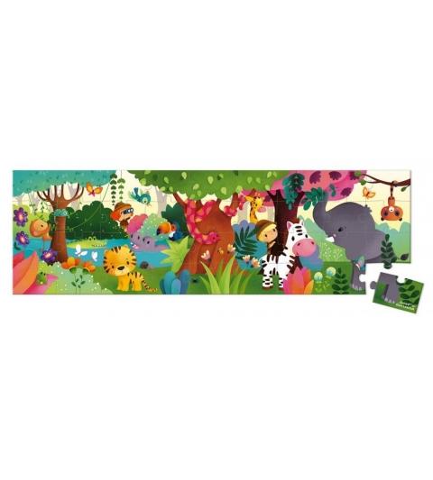 Janod Puzzle panoramatické Džungľa 36 ks