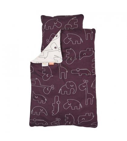Done by Deer posteľné obliečky Baby tmavo ružové
