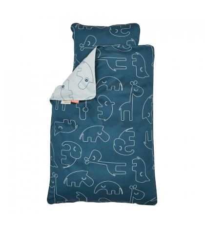 Done by Deer posteľné obliečky Baby tmavo modré