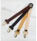 Klip na cumlík Leather Cognac Elodie Details