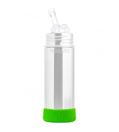 Pura® silikónový chránič na fľašu- zelený