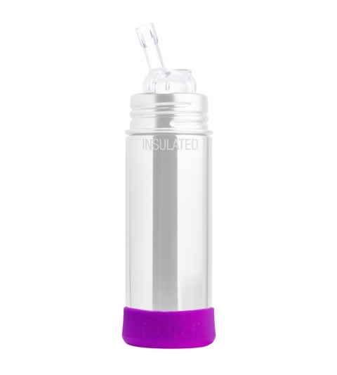 Pura® silikónový chránič na fľašu- modrý