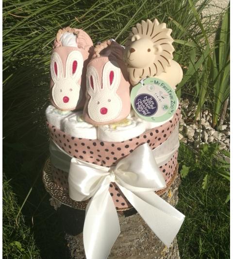 Plienková torta malá ružová