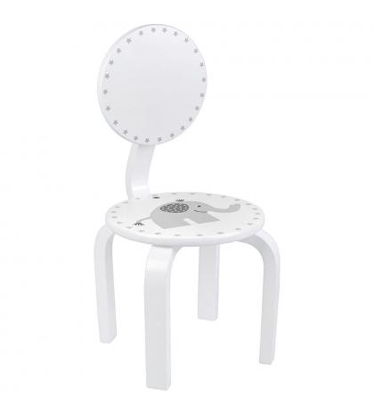 Jabadabado Detská biela stolička so sloníkom