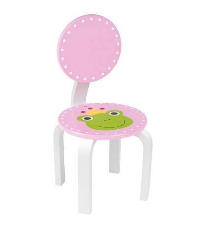 Jabadabado Detská ružová stolička so žabkou