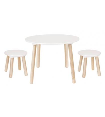 Jabadabado Biely detský stôl a stoličky