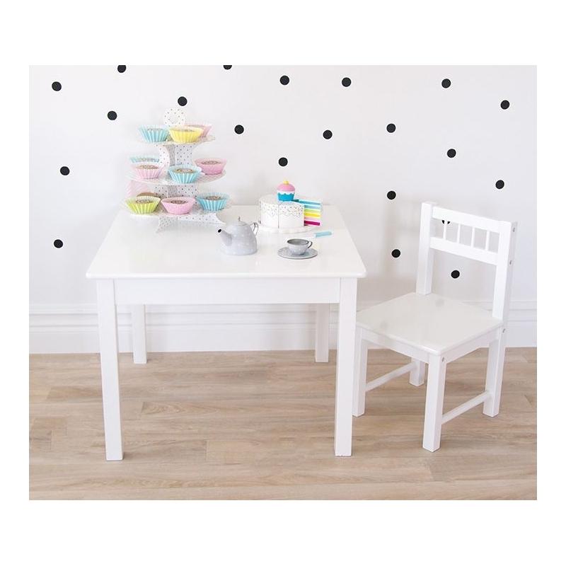0a84f9695dea Jabadabado Detský biely drevený stôl  Jabadabado Detský biely drevený stôl