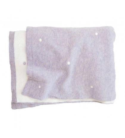 Effiki Deka 120x160 z organickej bavlny s bodkami Fialová - Biela by M. Socha