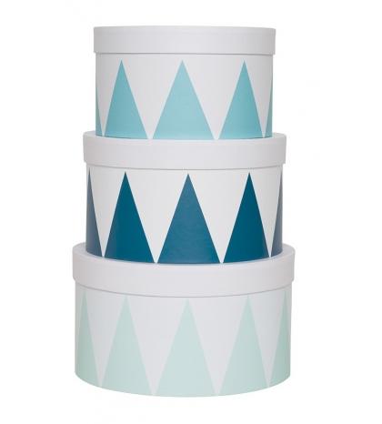 Jabadabado Okrúhle úložné boxy modré