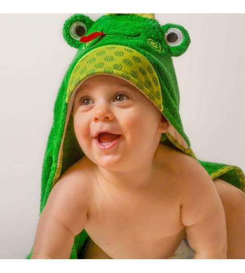 Zoochini osuška s kapucňou žaba