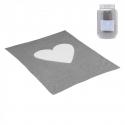 CAMBRASS Bavlnená detská deka 80 x 100 cm CUORE sivá