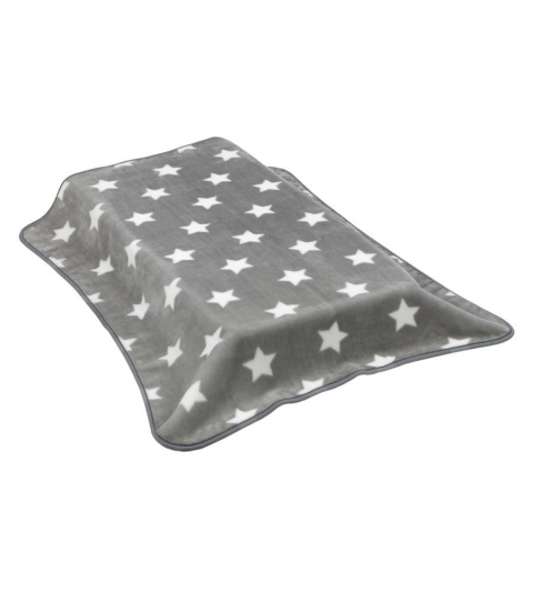 CAMBRASS Zamatová deka -110 x 40 cm RASCHEL - COT STAR sivá