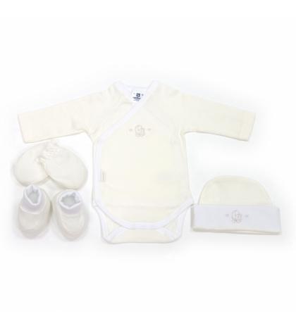 CAMBRASS Novorodenecký set 4 ks Liso béžový