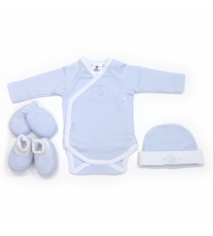 CAMBRASS Novorodenecký set 4 ks Liso modrý