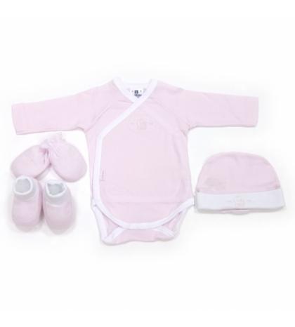 CAMBRASS Novorodenecký set 4 ks Liso ružový