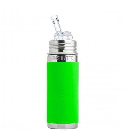 Pura® TERMO fľaša so slamkou 260ml-zelená